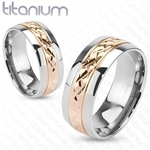 Titanium Rose Gold Center