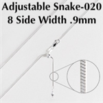 Adjustable 8 Sided Snake-020 Chain 22""