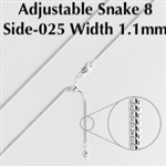 Adjustable 8 Sided Snake-025 Chain 22""