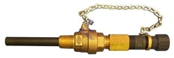 "3/4"" Standard Brass Body Retractable Corp Stop with PVC Wetted Diffuser"