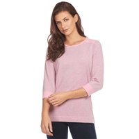 FDJ t-Shirt Pinstripe crew neck top Style # 1352108 Pink