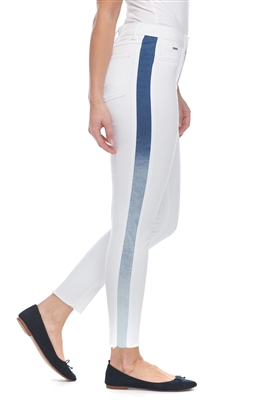 FDJ Olivia White with blue stripe down the side Style #2975750