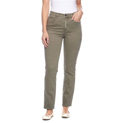 FDJ French dressing jeans  SUZANNE STRAIGHT LEG style # 6715272 colour olive 6, 16 left in stock
