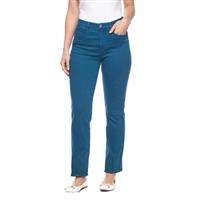 FDJ French dressing jeans  SUZANNE STRAIGHT LEG Petite Style # 8715272 colour teal 8 PT, 14 PT left in stock