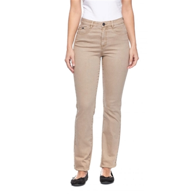 FDJ French dressing jeans  SUZANNE STRAIGHT LEG Petite Style # 8715272 colour  Khaki