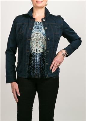 (FDJ) Denim Jacket  Style # 1948754  Colour: Dark Indigo only S,L,XL left in stock