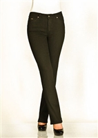 (FDJ) French Dressing Jeans Olivia Straight Leg Onyx / Black Overdyed Jeans  [PETITE Size] sold out