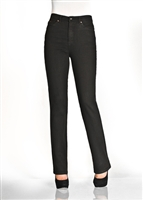 (FDJ) Suzanne 5 Pocket Straight Leg slim Jean COLOUR Black Style# 6473250(ALWAYS IN STOCK)