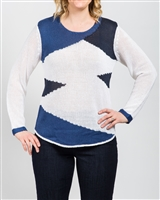 Marble Sweater Style # 4455 Colour Blue Navy White