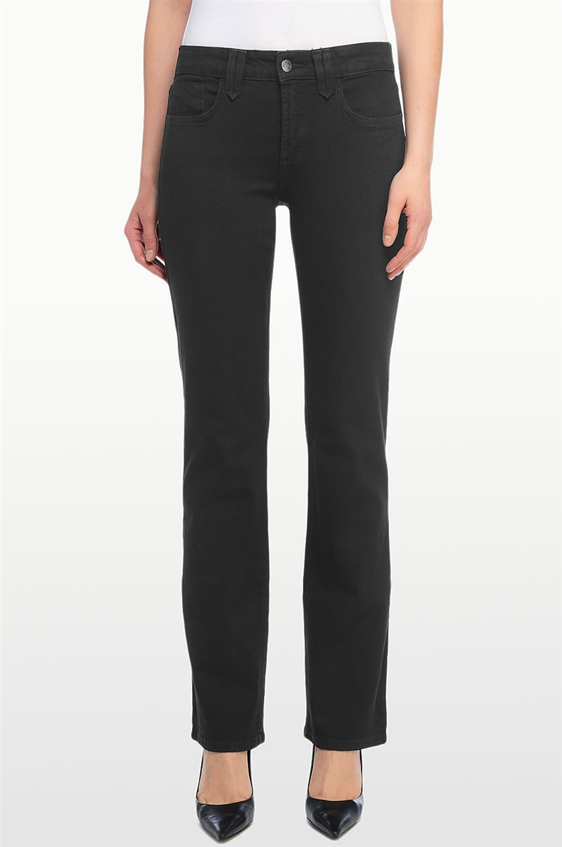 NEW NYDJ Not Your Daughters Jeans pants Marilyn Straight black pockets 6 8 10