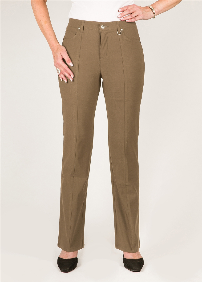 c47efd80 Simon Chang 5 Pocket Straight Leg Microtwill Pants Style # 3-5302 Colour  [Kahki]*Sold Out