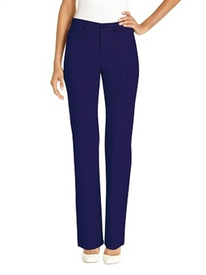 Simon Chang 5 Pocket Straight Leg Microtwill Pants Style # 3-5302 Colour [Navy} *Always in stock*