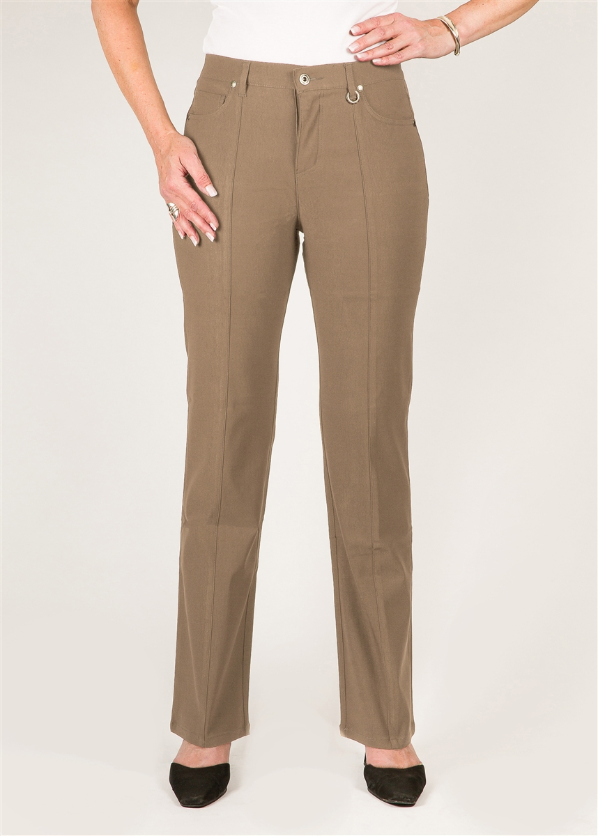 32e2cbea Simon Chang 5 Pocket Straight Leg Microtwill Pants Style # 3-5302 Colour  [Tan] Left in stock size 14,