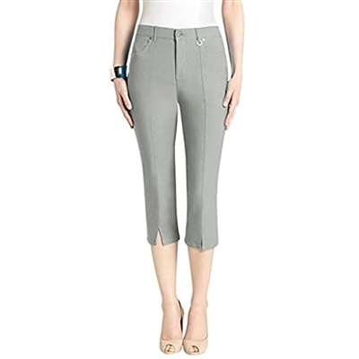 Simon Chang Slit Front Capri Pants Style #3-5353 Colour Grey