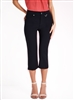 Simon Chang Slit Front Capri Pants Style #3-5353 Colour Navy sold out