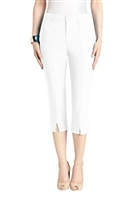 Simon Chang Slit Front Capri Pants Style #3-5353 Colour White