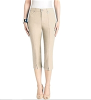 Simon Chang Slit Front Capri Pants Style #3-5353 Colour Stone