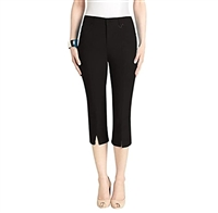 Simon Chang Slit Front Capri Pants Style #Petite 3-5353Pt Colour Black