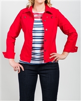 Simon Chang Jacket Microtwill Style # 3-5564 Colour Red Left in stock size 8,
