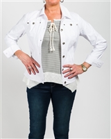 Simon Chang Jacket Microtwill Style # 3-5564 Colour White size,8,10,12'14, left in stock