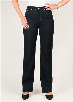 SIMON CHANG 5 POCKET STRAIGHT LEG Jean - Colour [Blue] -  STYLE # 3-5631