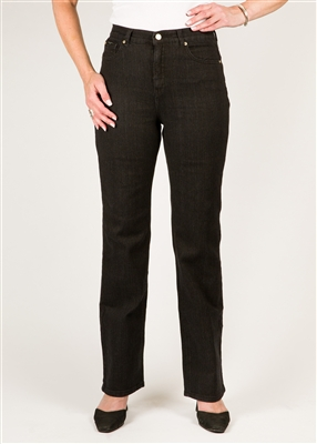 SIMON CHANG 5 POCKET STRAIGHT LEG Jean - Colour [Black] -  STYLE # 3-5631P - [PETITE] - *ALWAYS IN STOCK*