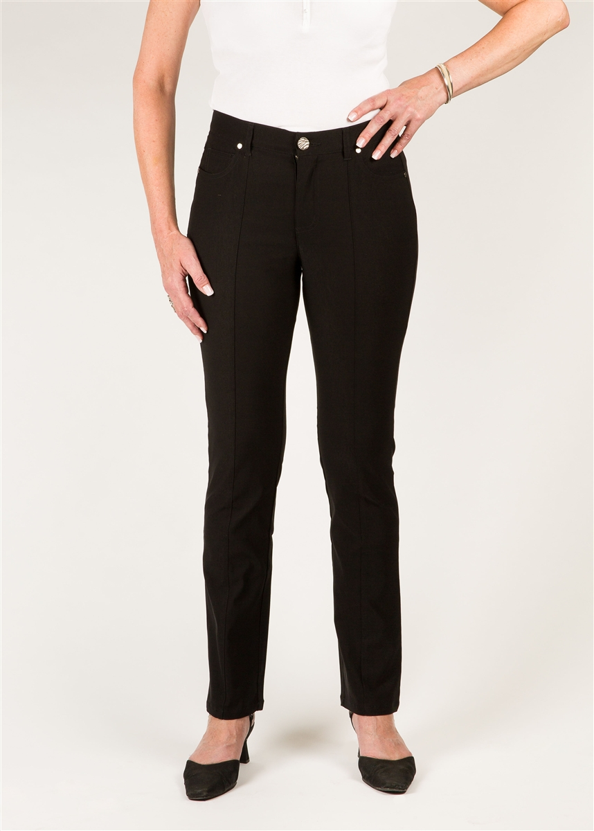 673c74b8 Simon Chang 5 Pocket Ultra skinny Microtwill Pants - Colour [Black] -  Style#: 3-5886