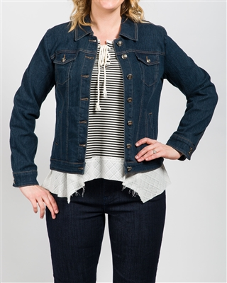 Simon Chang Jean Jacket Colour Blue Style # 6642