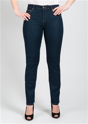 Simon Chang Jean 5 Pocket Slim-Straight Leg Style # 6643 - Colour Blue
