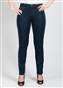 Simon Chang Jean 5 Pocket Slim-Straight Leg Style # 6643P - Petite Colour Blue