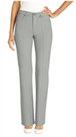 Simon Chang 5 Pocket Straight Leg Microtwill Pants Style # 3-5302P - Colour: Grey - [PETITE]