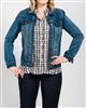 Tribal Jacket Denim Colour Retro Blue Style # 52290-1385