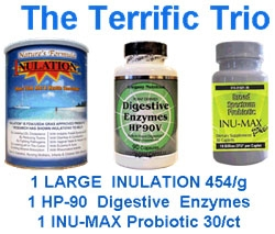 Terrific Trio Complete Digestive Health Supplement Package Deal
