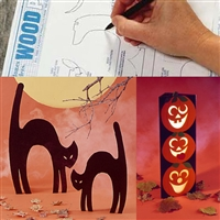 Tower O'Pumpkins, Scaredy Cats : Large-format Paper Woodworking Plan