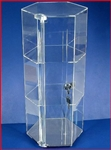 "Acrylic Display Case Tall 24"" w/ Lock"