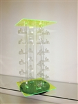 Acrylic Rotating Sunglass Holder Green