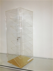 Acrylic Six Slanted Shelf Display Case