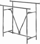 "Double Bar ""V"" Clothing Rack"