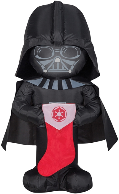 Airblown Darth Vader with Stocking - Sm