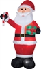 Airblown Santa Gift Candy Cane Inflatable