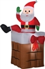 Airblown Santa Chimney Climbing Animated Inflatable