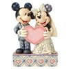 Disney Traditions Wedding Two Souls, One Heart Mickey and Minnie Mouse Statue at www.boodee.net