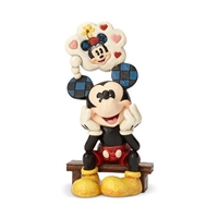 Disney Traditions Mickey Mouse with Love Thought Thinking of You Statue by Jim Shore