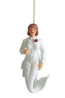 December Diamonds White Bride Mermaid Ornament Statue Figure December Diamonds