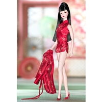 Silkstone Barbie Chinoserie Red Moon Fashion Model Collection
