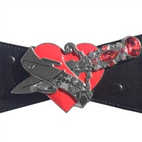 Elvira Dagger Elastic Waist Belt Red