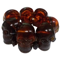 Skull Collection Bracelet Amber