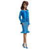 Silkstone Barbie City Chic Blue Dress Fashion Model Collection