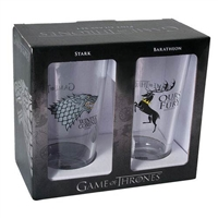 Game of Thrones Stark and Baratheon Pint Glass 2-Pack
