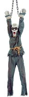 Hanging Zombie Animated 55 inches Halloween Prop